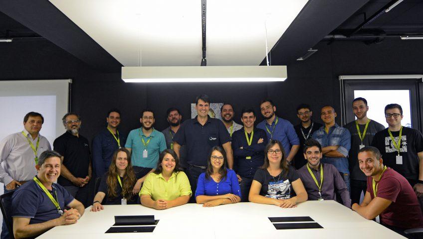O time da InCeres reunido na inauguração da parceria com o Pulse - Hub de Inovação. (Foto: Amanda Vieira)